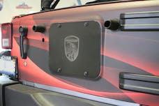 Steinjager Spare Tire Carrier Delete Plate Wrangler JK 2007-2018 Black Powdercoat
