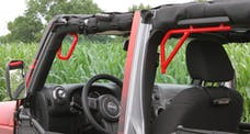 Steinjager Grab Handle Kit Wrangler JK 2007-2018 Rigid Design Front and Rear for 4 Door JKU Red Baron