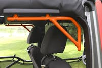 Steinjager Grab Handle Kit Wrangler JK 2007-2018 Rigid Design Rear for 4 Door JKU Fluorescent Orange
