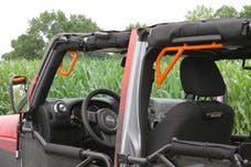 Steinjager Grab Handle Kit Wrangler JK 2007-2018 Rigid Design Front and Rear for 4 Door JKU Fluorescent Orange
