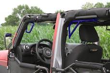 Steinjager Grab Handle Kit Wrangler JK 2007-2018 Rigid Design Front and Rear for 4 Door JKU Southwest Blue