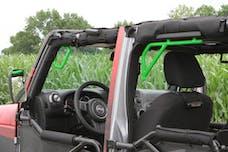 Steinjager Grab Handle Kit Wrangler JK 2007-2018 Rigid Design Front and Rear for 4 Door JKU Neon Green