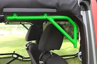 Steinjager Grab Handle Kit Wrangler JK 2007-2018 Rigid Design Rear for 4 Door JKU Neon Green