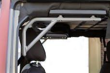 Steinjager Grab Handle Kit Wrangler JK 2007-2018 Rigid Design Rear for 4 Door JKU Gray Hammertone