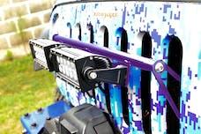 Steinjager LED Lights and Brackets Wrangler JK 2007-2018 External Grill Mount Brackets Only Sinbad Purple