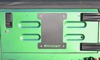 Steinjager Spare Tire Carrier Delete Plate Wrangler TJ 1997-2006 Gray Hammertone