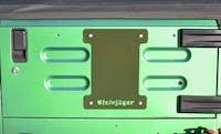 Steinjager Spare Tire Carrier Delete Plate Wrangler TJ 1997-2006 Locas Green