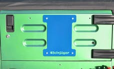 Steinjager Spare Tire Carrier Delete Plate Wrangler TJ 1997-2006 Playboy Blue