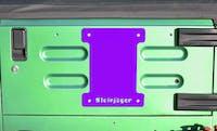 Steinjager Spare Tire Carrier Delete Plate Wrangler TJ 1997-2006 Sinbad Purple