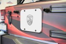 Steinjager Spare Tire Carrier Delete Plate Wrangler JK 2007-2018 Cloud White