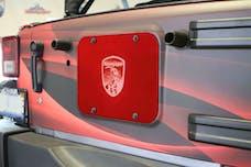 Steinjager Spare Tire Carrier Delete Plate Wrangler JK 2007-2018 Red Baron
