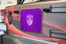 Steinjager Spare Tire Carrier Delete Plate Wrangler JK 2007-2018 Sinbad Purple