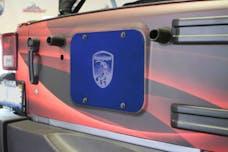 Steinjager Spare Tire Carrier Delete Plate Wrangler JK 2007-2018 Southwest Blue