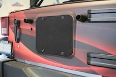 Steinjager Spare Tire Carrier Delete Plate Wrangler JK 2007-2018 Texturized Black