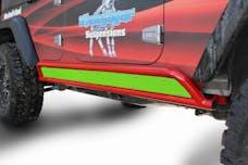 Steinjager Rock Sliders Wrangler JK 2007-2018 4 Door Phantom Inserts Neon Green