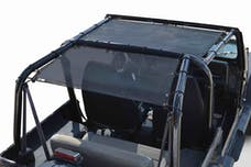 Steinjager Tops, Fabric Teddy Wrangler YJ 1987-1995 Solar Screen Black Front Seats Only