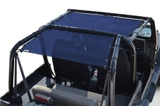Steinjager Tops, Fabric Teddy Wrangler YJ 1987-1995 Solar Screen Blue Front Seats Only