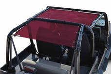 Steinjager Tops, Fabric Teddy Wrangler YJ 1987-1995 Solar Screen Burgundy Front Seats Only
