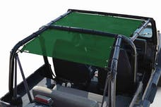 Steinjager Tops, Fabric Teddy Wrangler YJ 1987-1995 Solar Screen Green Front Seats Only