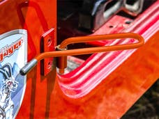Steinjager Foot Rest Kit Wrangler YJ 1987-1995 Fluorescent Orange