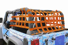 Steinjager Cargo Net Wrangler JK 2007-2018 2 Door Premium Orange