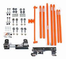 Steinjager Long Arm Travel Kit Wrangler TJ 1997-2006 DOM Tubing Automatic Transmission Fluorescent Orange