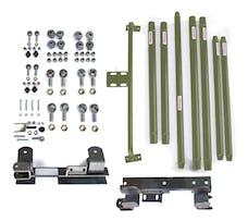 Steinjager Long Arm Travel Kit Wrangler TJ 1997-2006 DOM Tubing Automatic Transmission Locas Green