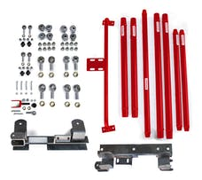 Steinjager Long Arm Travel Kit Wrangler TJ 1997-2006 DOM Tubing Automatic Transmission Red Baron