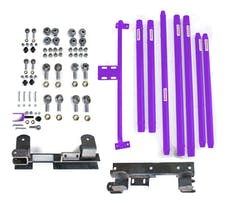 Steinjager Long Arm Travel Kit Wrangler TJ 1997-2006 DOM Tubing Automatic Transmission Sinbad Purple