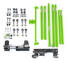 Steinjager Long Arm Travel Kit Wrangler TJ 1997-2006 DOM Tubing Automatic Transmission Neon Green