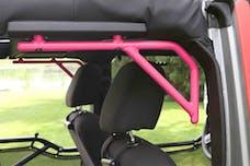 Steinjager Grab Handle Kit Wrangler JK 2007-2018 Rigid Design Rear for 4 Door JKU Hot Pink
