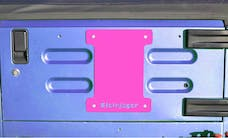 Steinjager Spare Tire Carrier Delete Plate Wrangler TJ 1997-2006 Hot Pink
