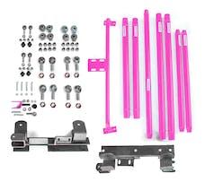 Steinjager Long Arm Travel Kit Wrangler TJ 1997-2006 DOM Tubing Manual Transmission Hot Pink