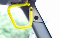 Steinjager Grab Handle Kit Wrangler JK 2007-2018 Rigid Design Front Neon Yellow