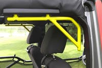 Steinjager Grab Handle Kit Wrangler JK 2007-2018 Rigid Design Rear for 4 Door JKU Neon Yellow