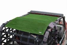 Steinjager Tops, Fabric Teddy Wrangler TJ 1997-2006 Solar Screen Green Full Length
