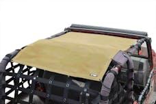 Steinjager Tops, Fabric Teddy Wrangler TJ 1997-2006 Solar Screen Tan Full Length