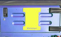 Steinjager Spare Tire Carrier Delete Plate Wrangler TJ 1997-2006 Neon Yellow