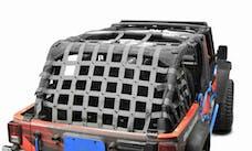 Steinjager Cargo Net Wrangler JK 2007-2018 4 Door Premium Gray