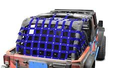 Steinjager Cargo Net Wrangler JK 2007-2018 4 Door Premium Blue
