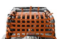 Steinjager Cargo Net Wrangler YJ 1987-1995 Orange