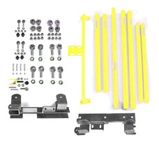 Steinjager Long Arm Travel Kit Wrangler TJ 1997-2006 DOM Tubing Automatic Transmission Neon Yellow