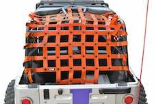 Steinjager Cargo Net Wrangler TJ 2004-2006 Wrangler LJ Orange