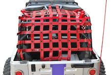 Steinjager Cargo Net Wrangler TJ 2004-2006 Wrangler LJ Red