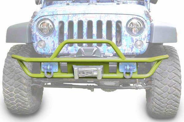 Steinjager Bumpers Wrangler JK 2007-2018 Bumper, Front, Tube Gecko Green