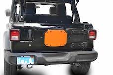 Steinjager Spare Tire Carrier Delete Plate Wrangler JL 2018 to Present Fluorescent Orange