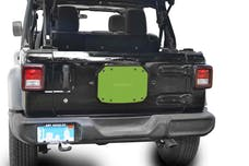 Steinjager Spare Tire Carrier Delete Plate Wrangler JL 2018 to Present Gecko Green