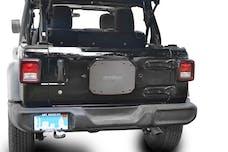 Steinjager Spare Tire Carrier Delete Plate Wrangler JL 2018 to Present Gray Hammertone