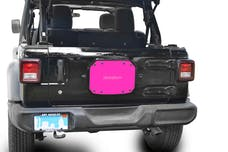 Steinjager Spare Tire Carrier Delete Plate Wrangler JL 2018 to Present Hot Pink