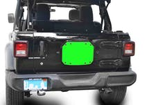 Steinjager Spare Tire Carrier Delete Plate Wrangler JL 2018 to Present Neon Green